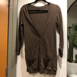 American eagle brown button up cardigan